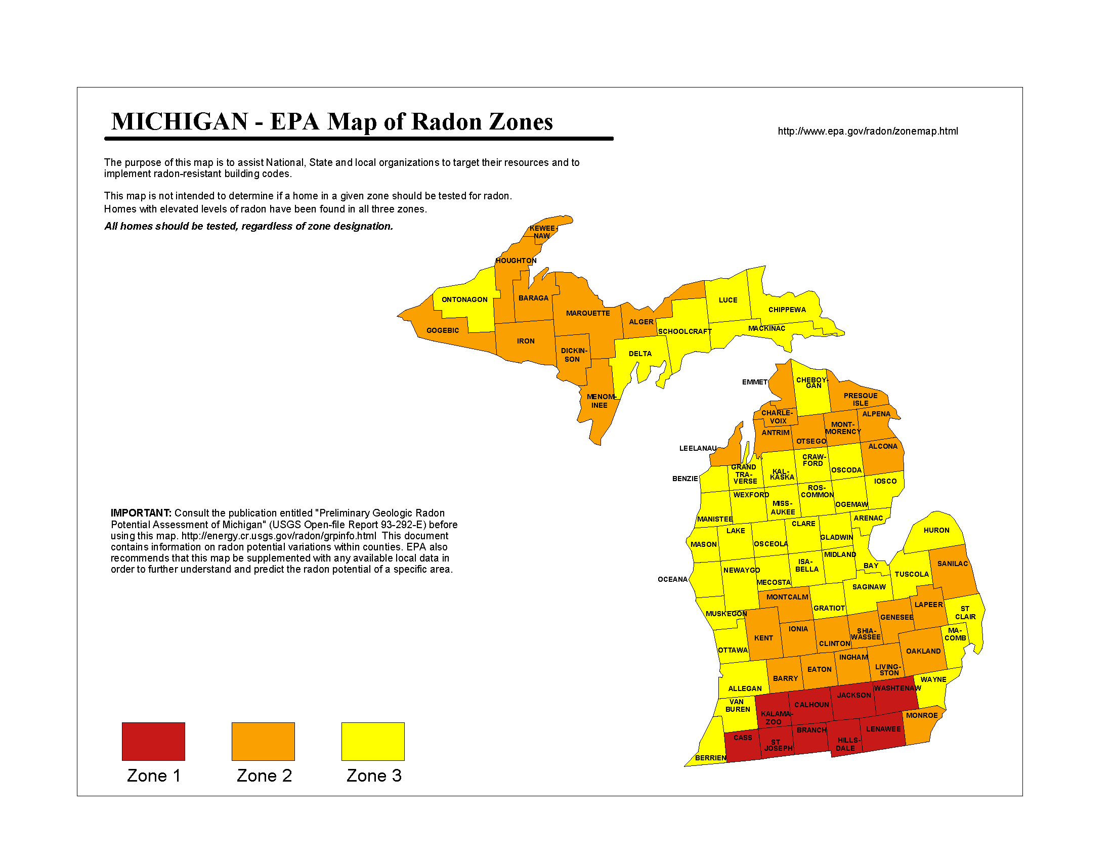 michigan radon